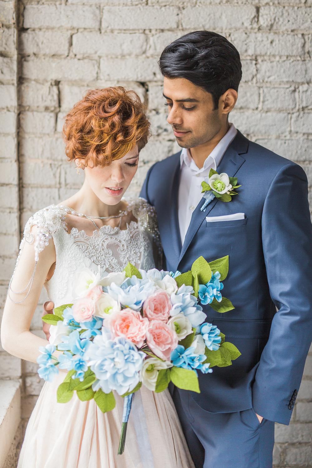 pink and blue pantone 2016 wedding ideas