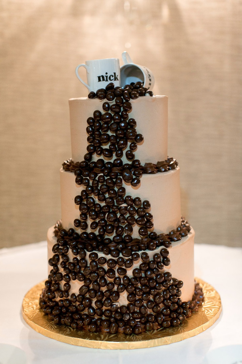 Coffee bean wedding cake
