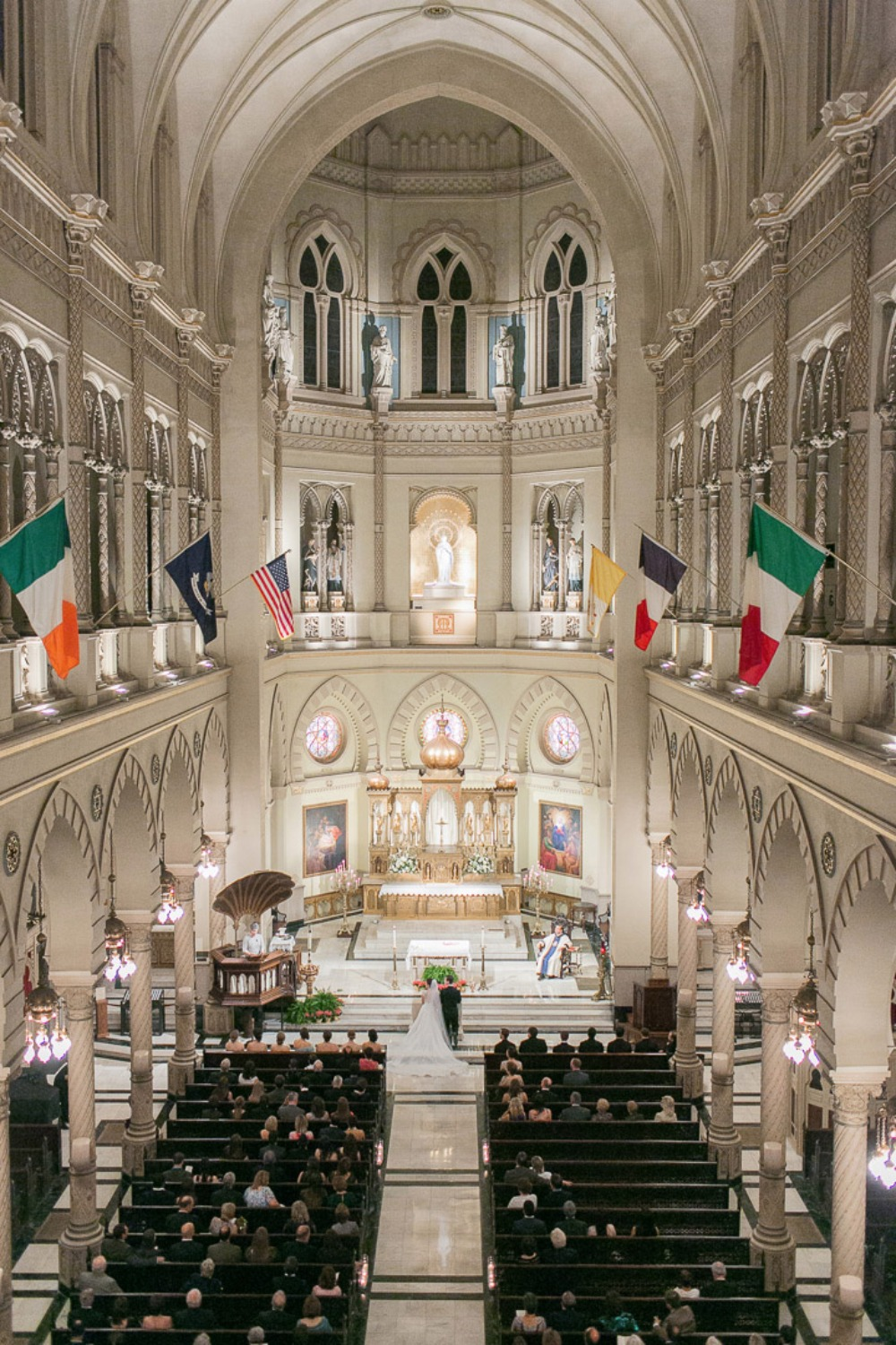 Giant cathedral wedding