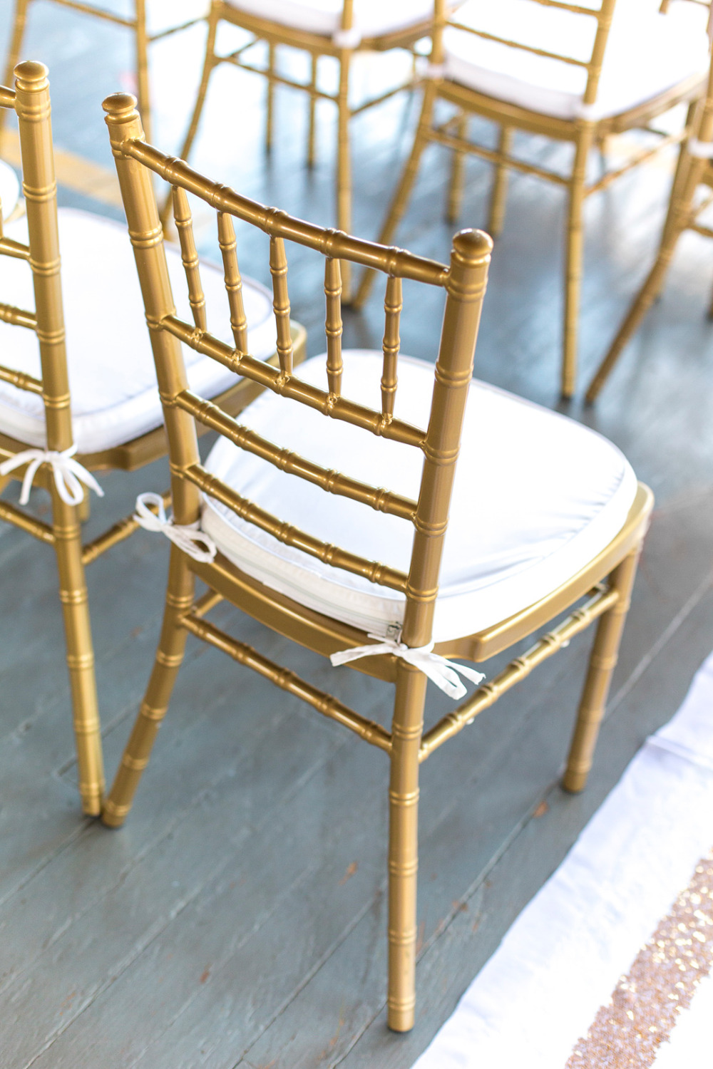 gold wedding ceremony chairs