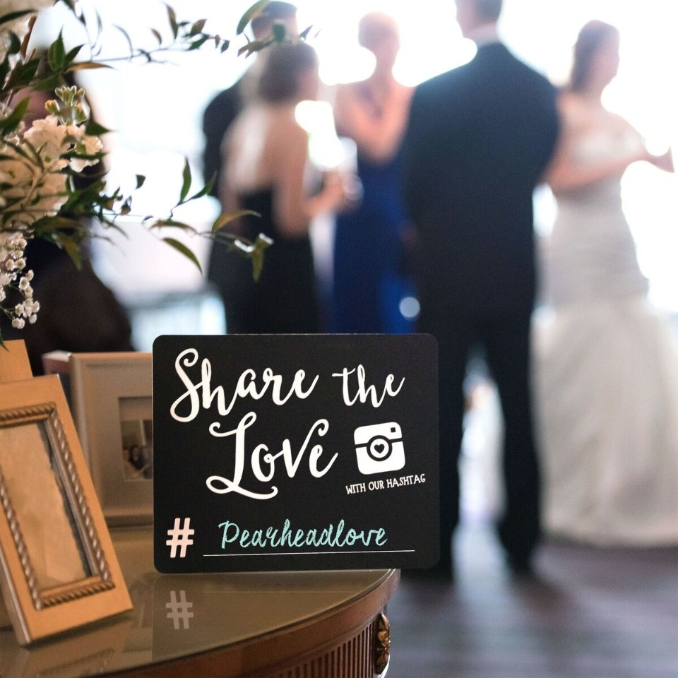Share the love Instagram chalkboard sign
