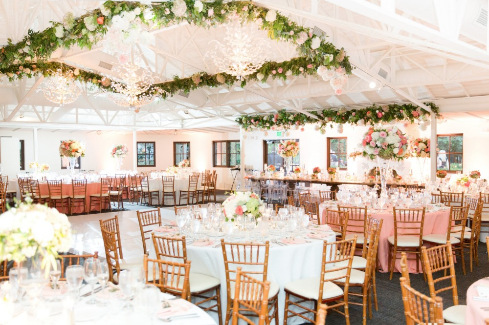 Romantic blush reception
