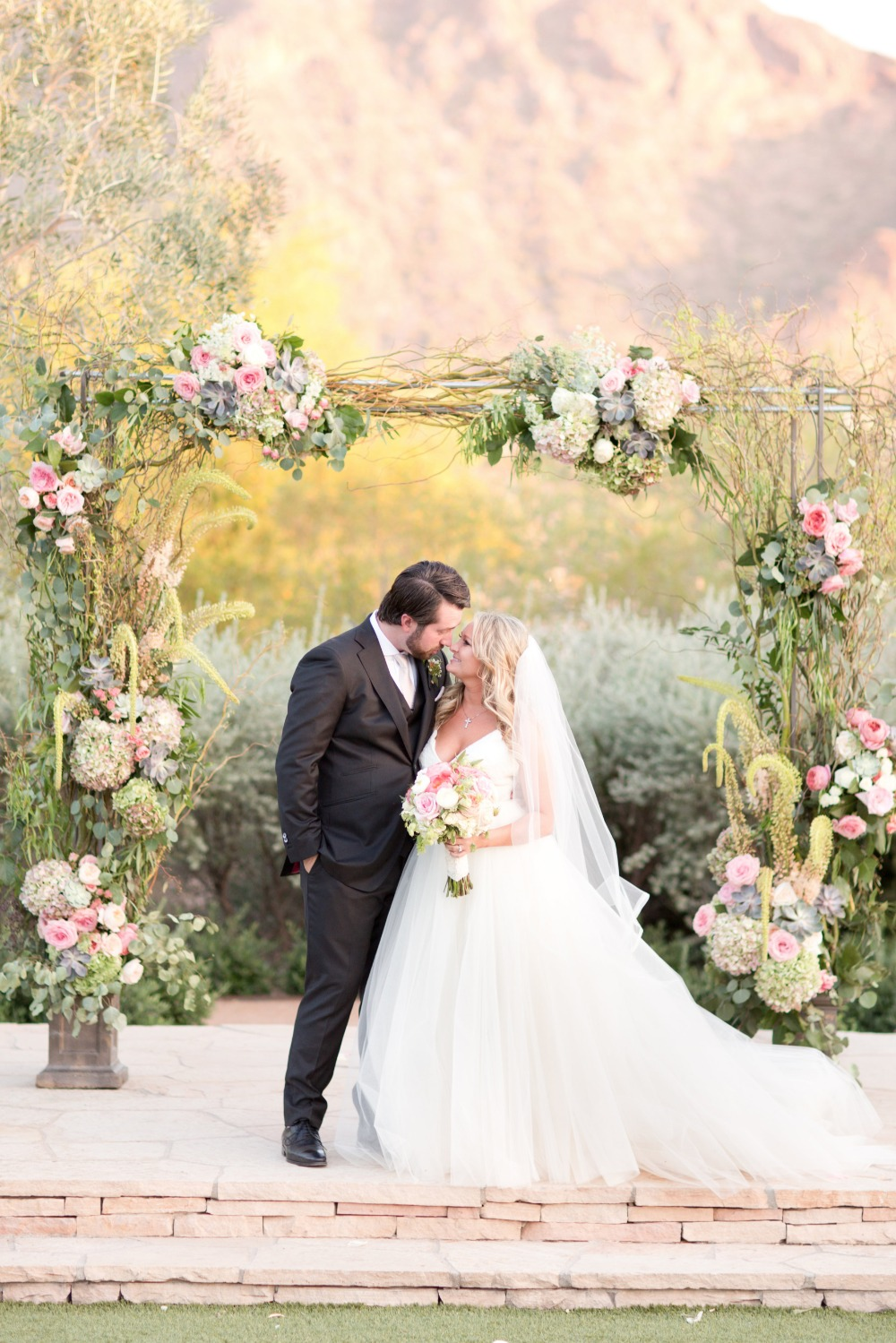 Romantic wedding arbor
