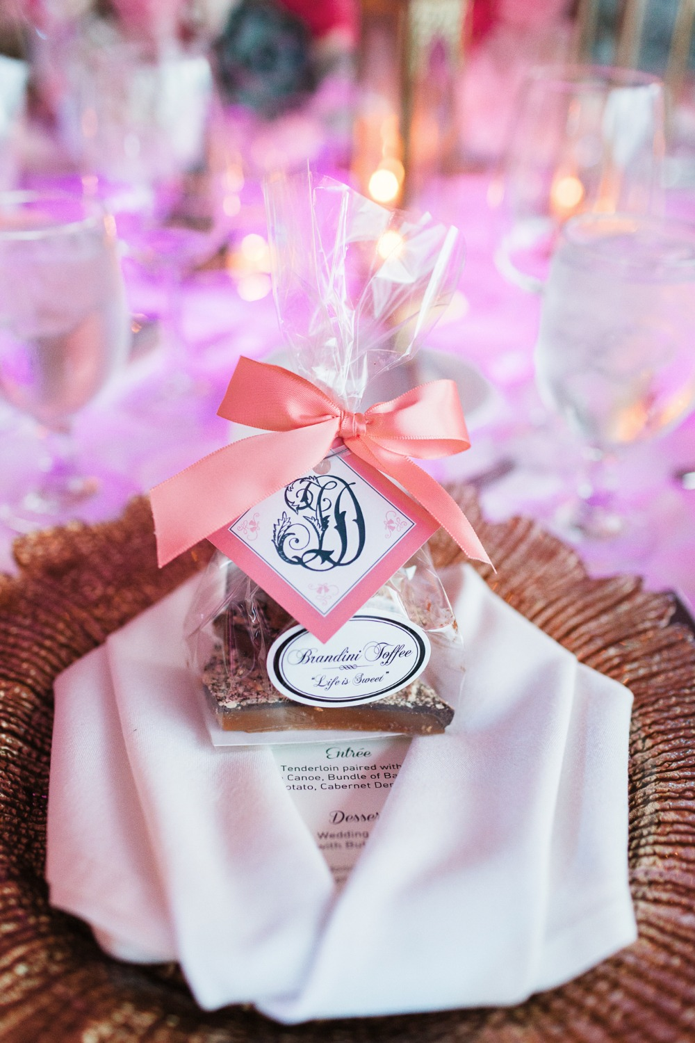 Toffee wedding favor