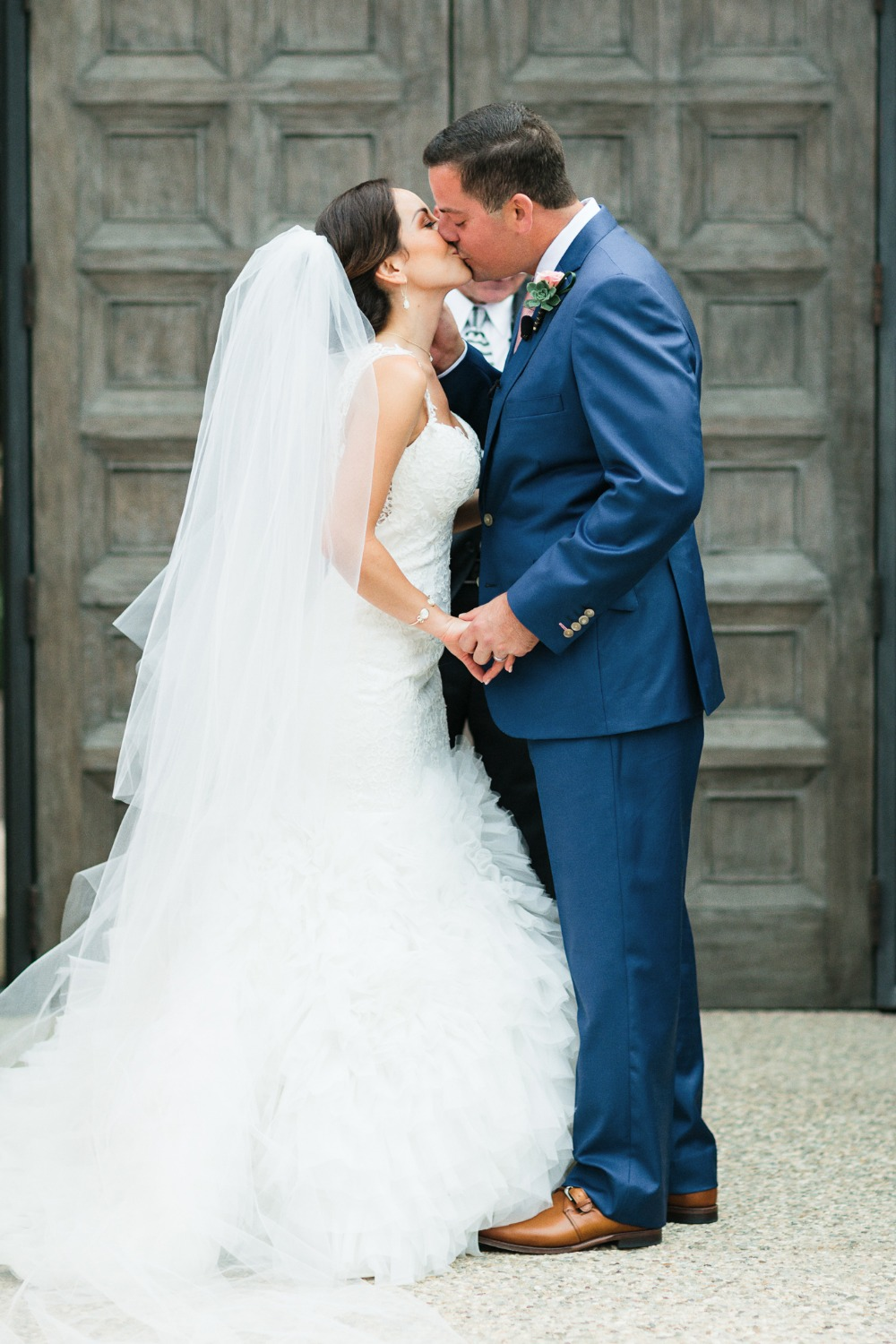 Ceremony wedding kiss