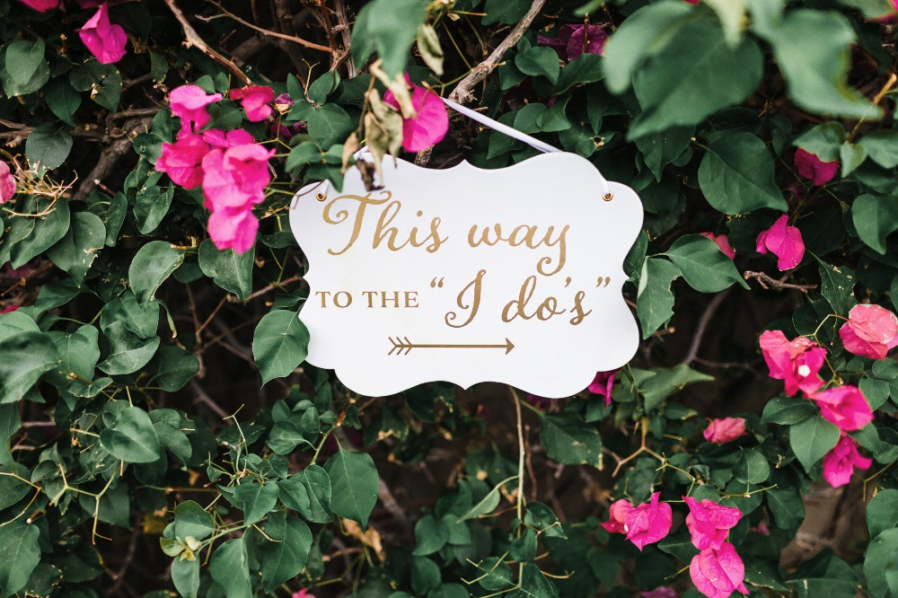 Ceremony wedding sign