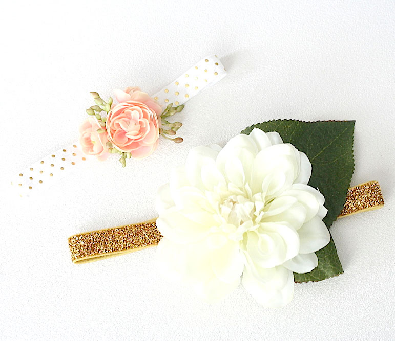 DIY no-sew wedding garters