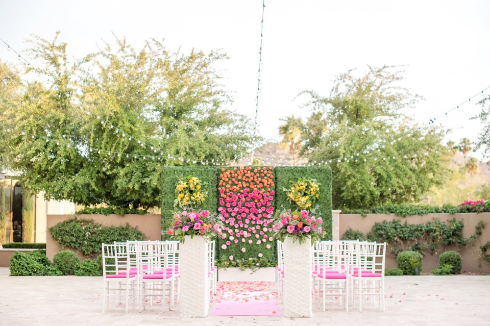 Romantic outdoor ceremony space