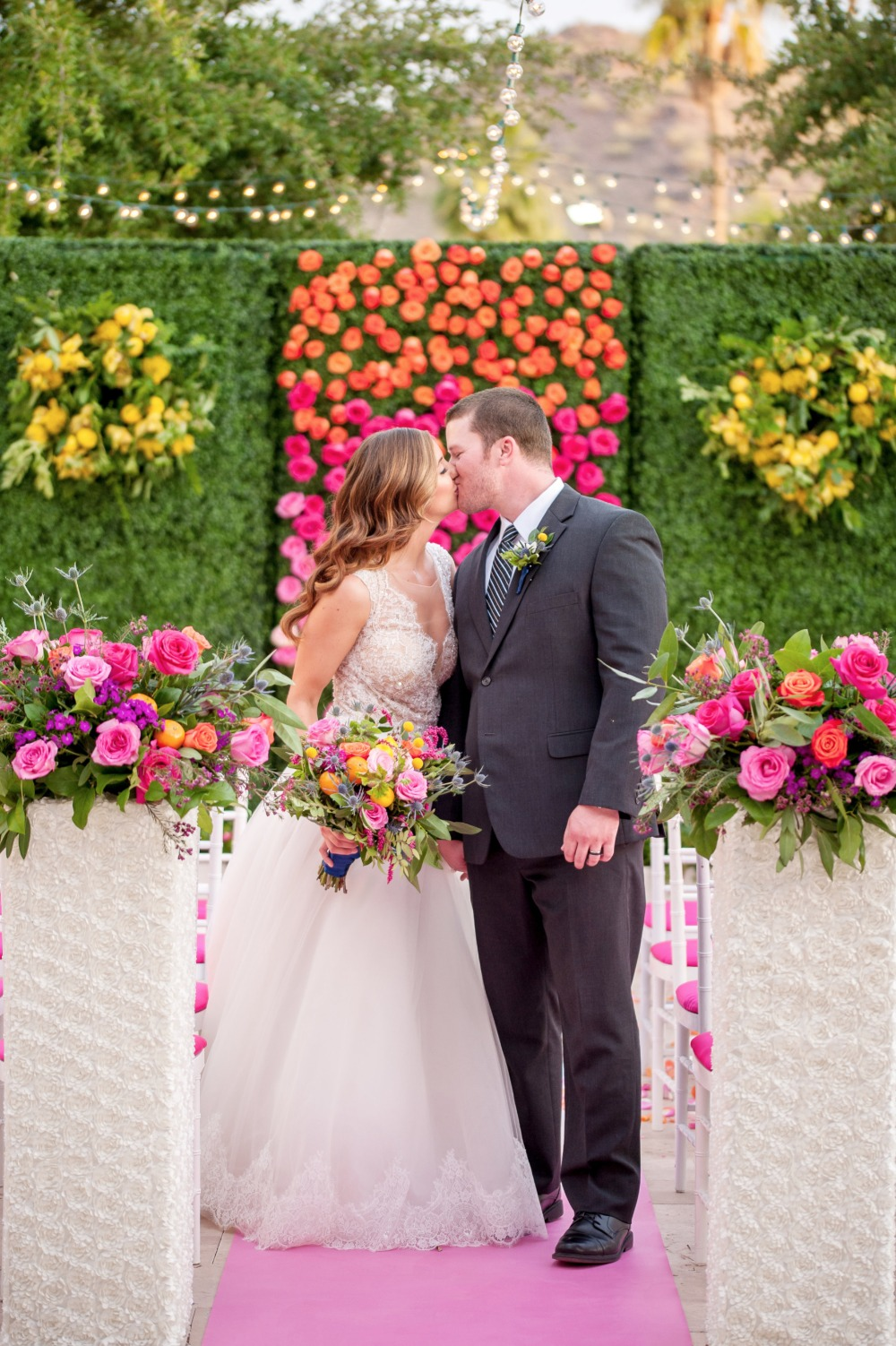 Colorful and bright ceremony