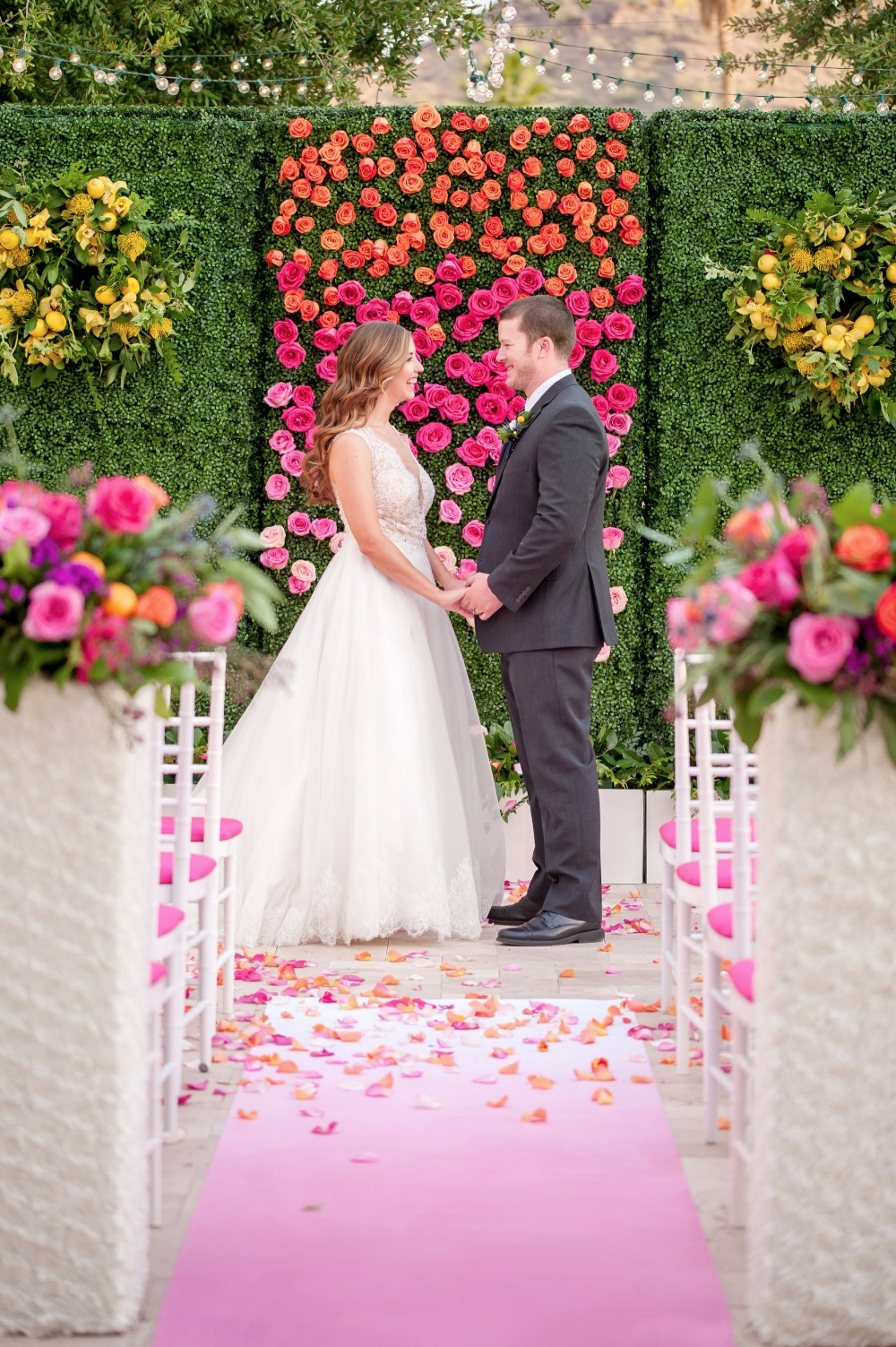 Colorful wedding ceremony ideas
