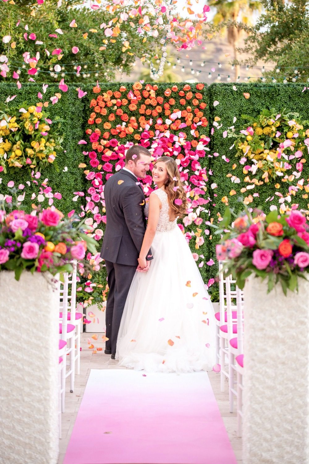 Gorgeous flower filled wedding