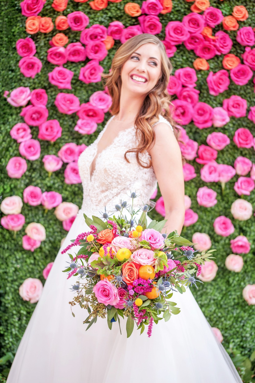 Beautiful bride and bouquet