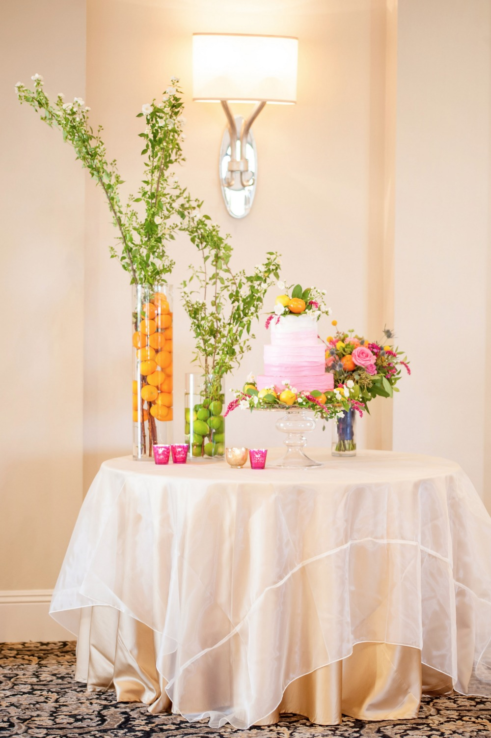Simply styled cake table