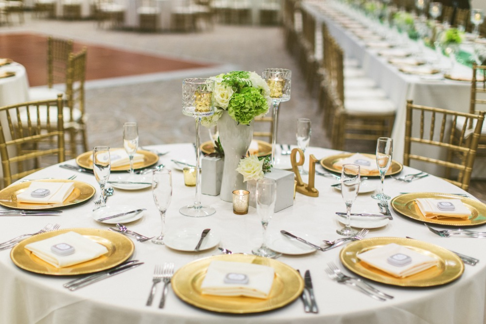 Gold place setting idea