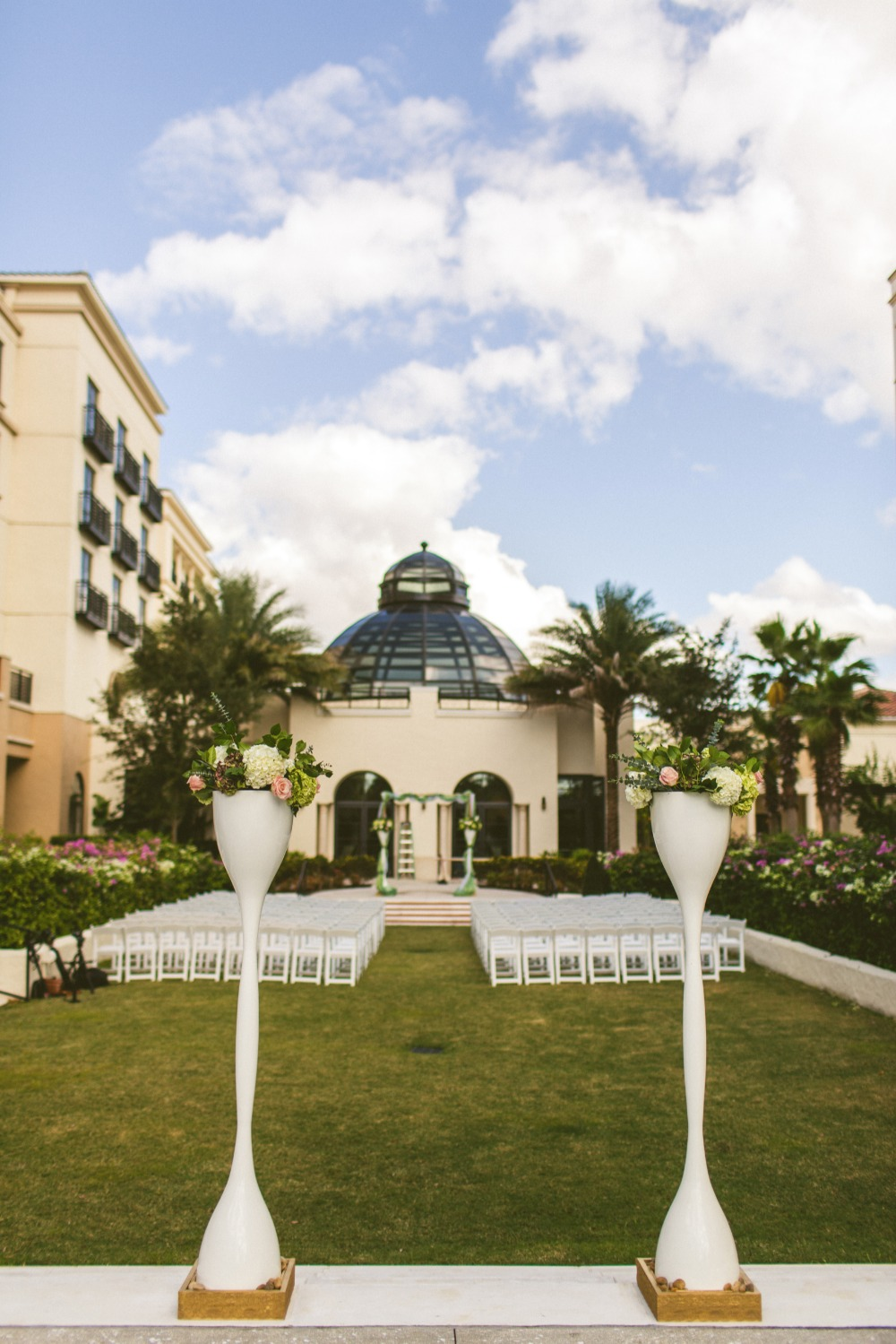 Outdoor wedding ceremony space