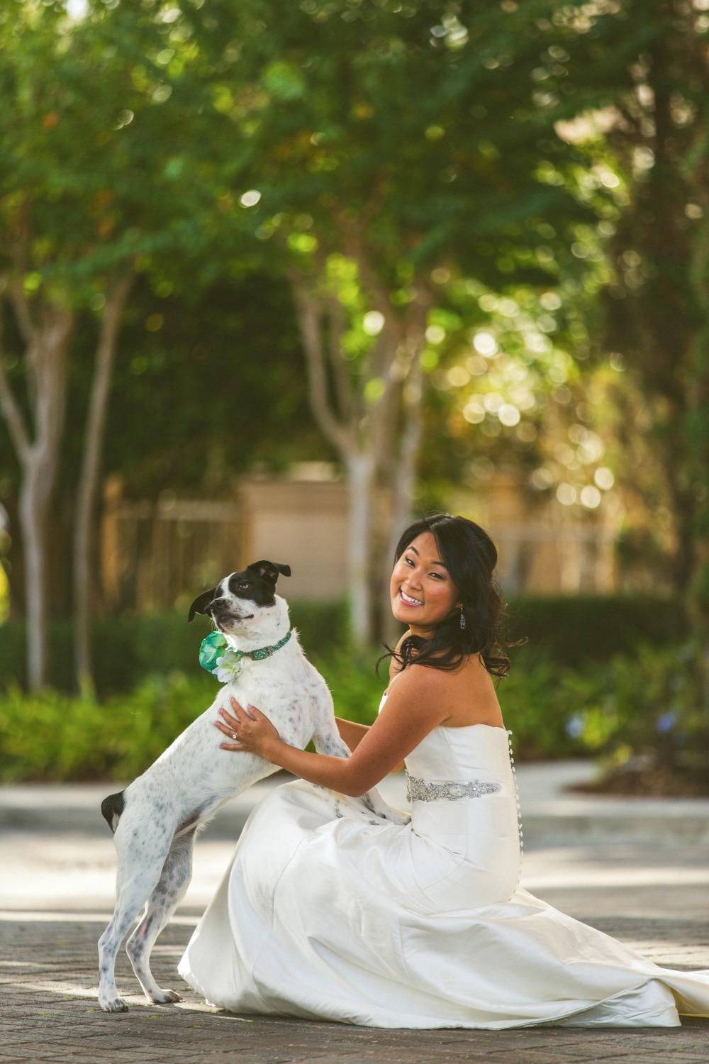 A bride and her pup