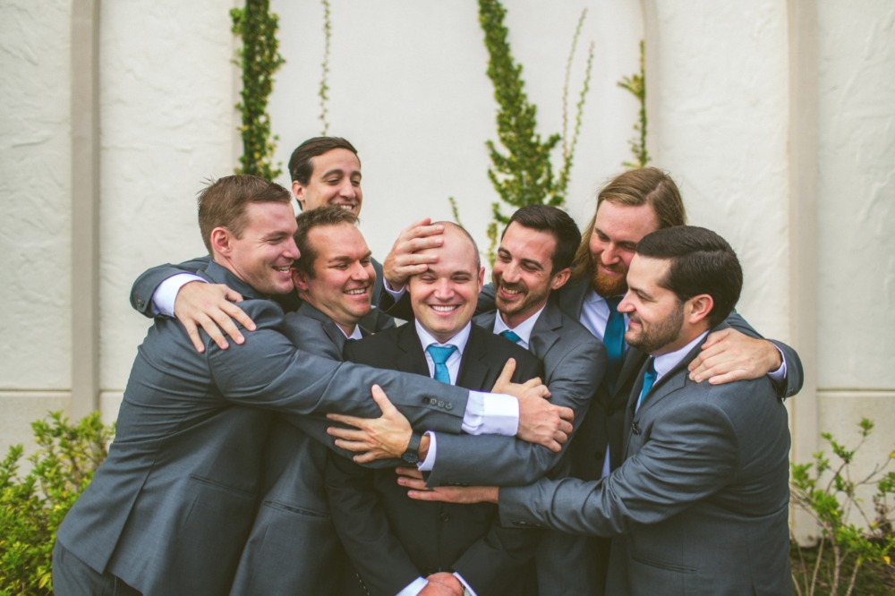 Funny groomsmen photo