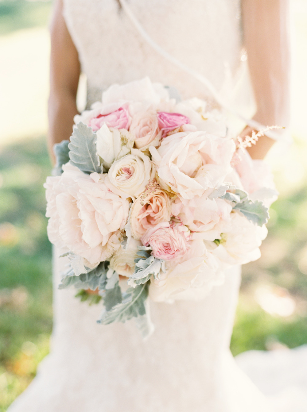 pink and white DIY wedding bouquet