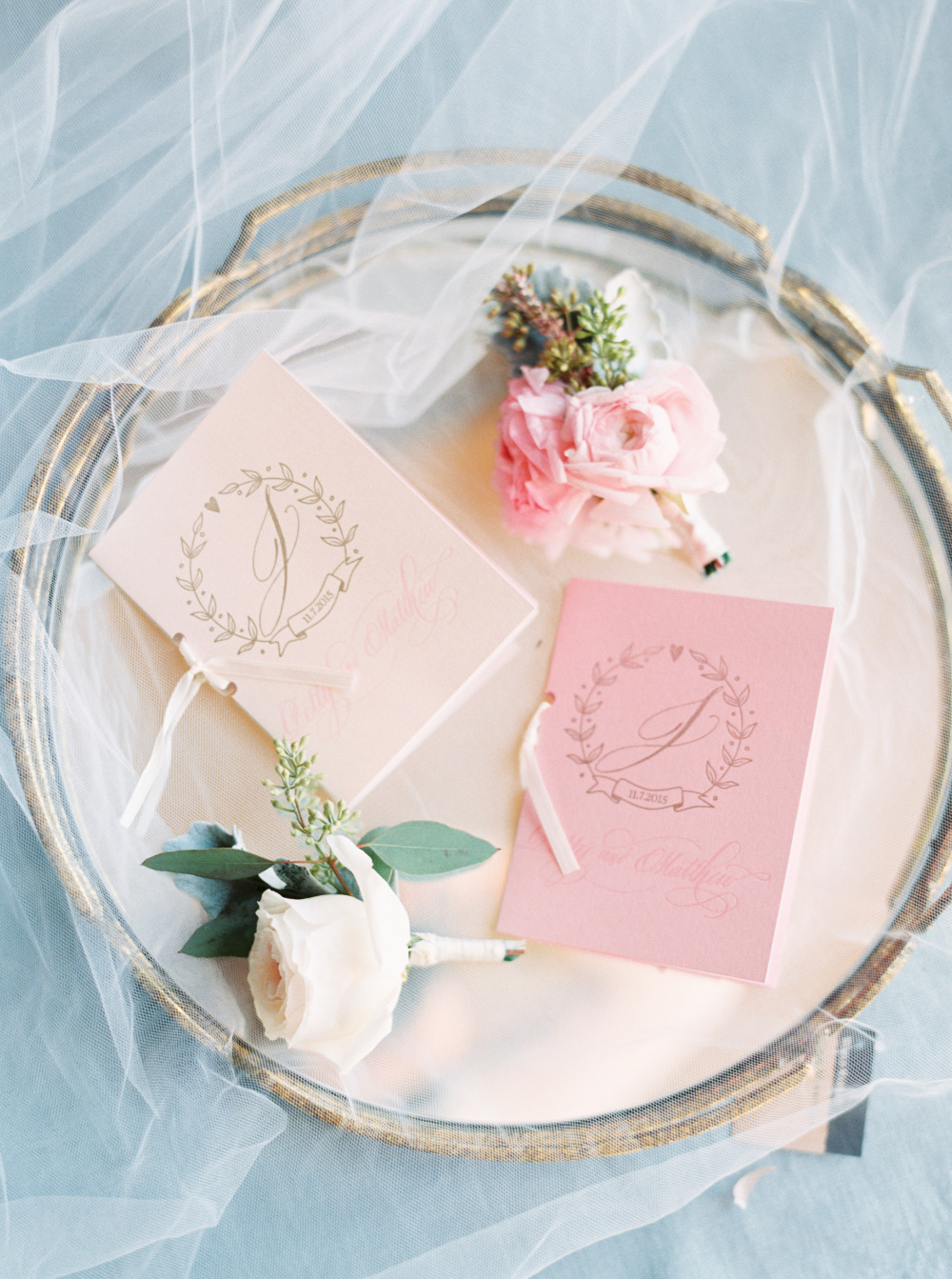 pretty pink vow booklets