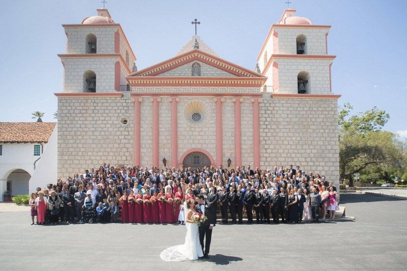 Photos like this seem relatively simple to look at, but organizing and photographing this full-wedding group photo on the steps of