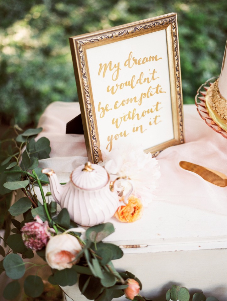 My dream wouldn't be complete without you in it. wedding sign