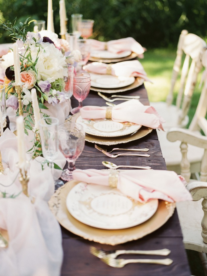 elegant and subtle princess inspired table decor