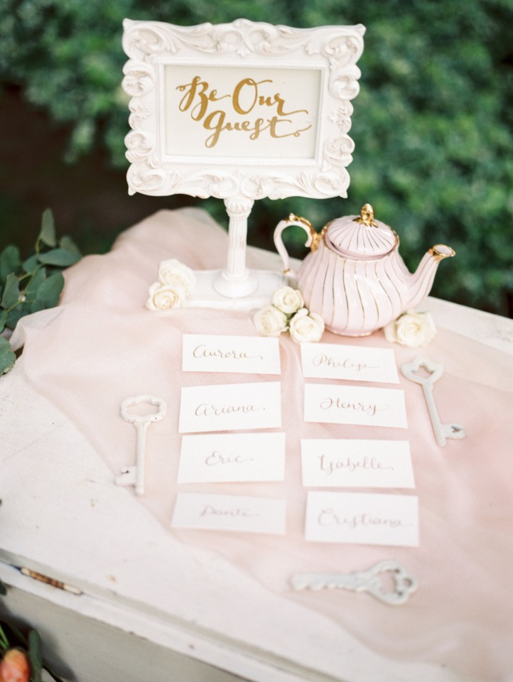 be our guest escort card display