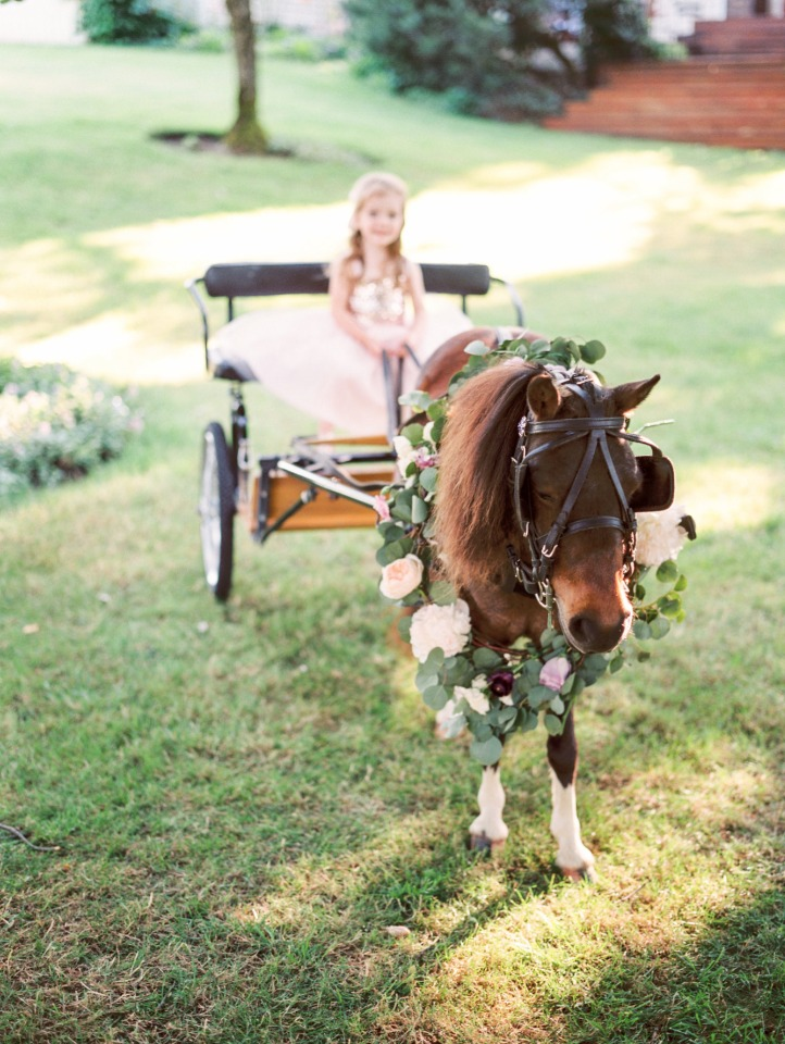 fairy tale cart and pony just for the flower girl