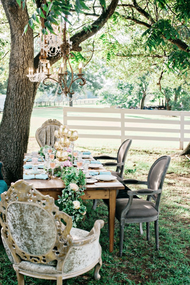 southern styled wedding table