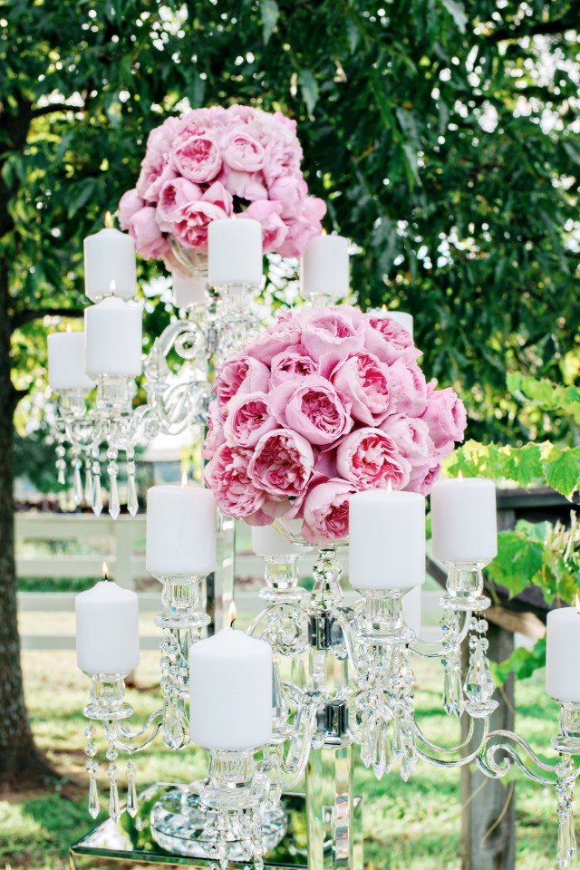 candle and flower accented candelabras