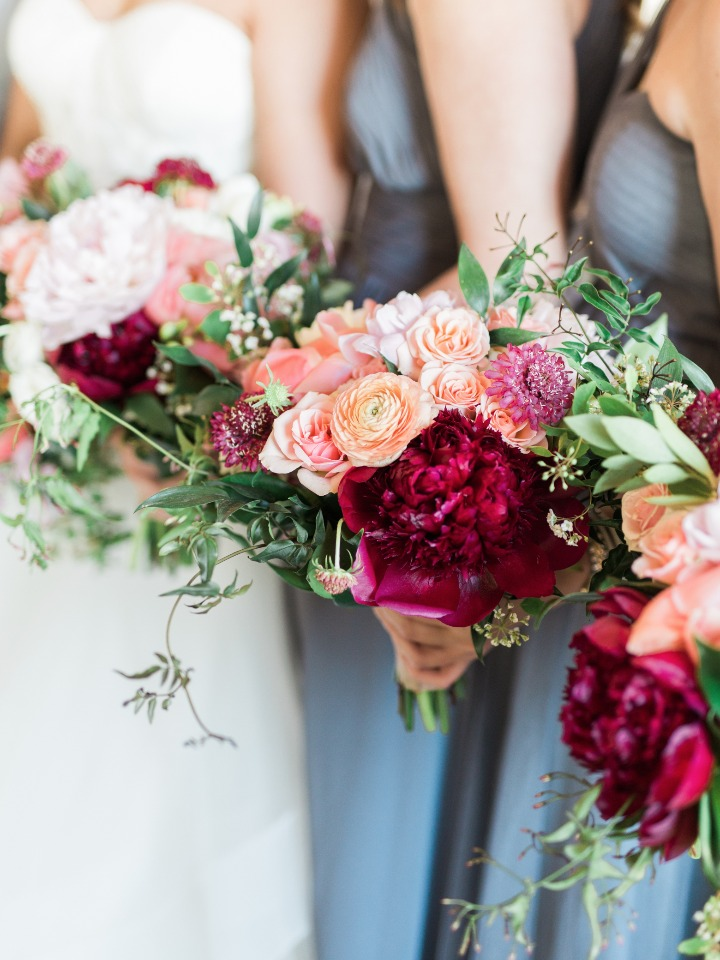 romantic and cheerful bouquets by Kate Foley Designs