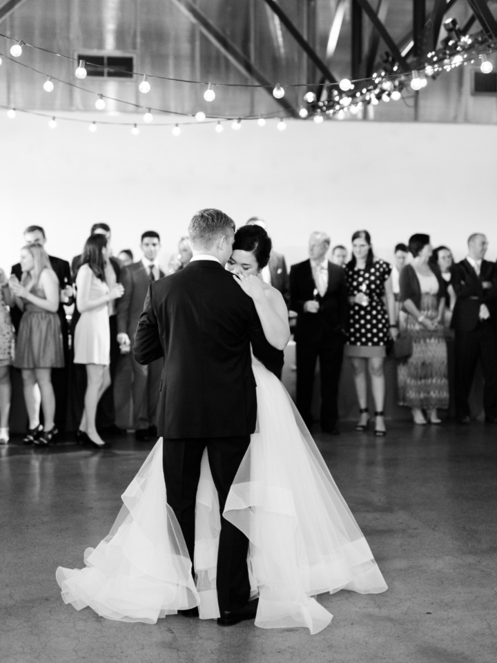 sweet bride and groom photo during their first dance