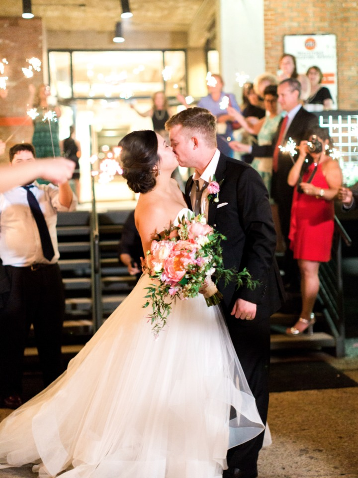sparker exit and wedding kiss