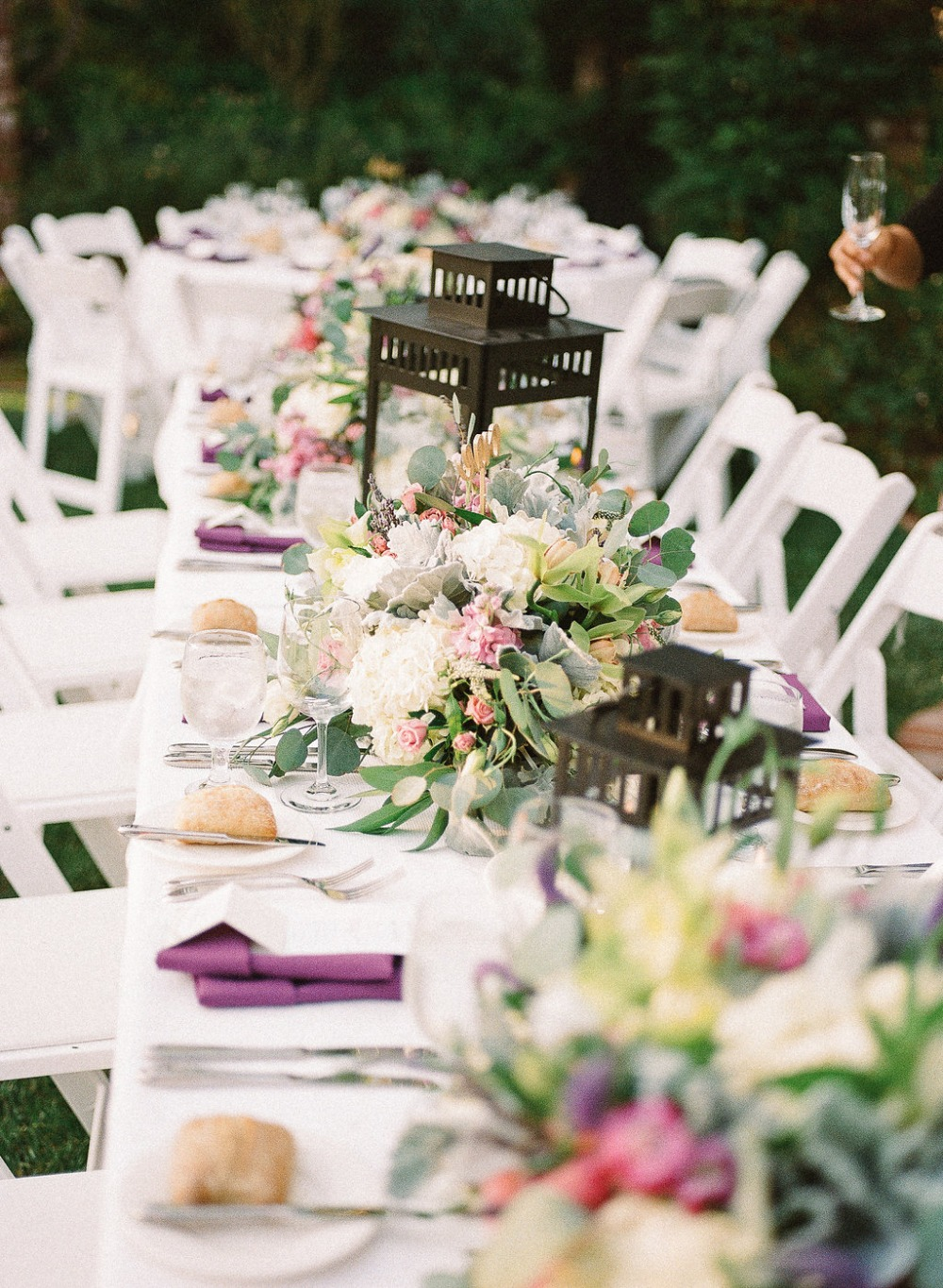 Floral and lantern centerpieces