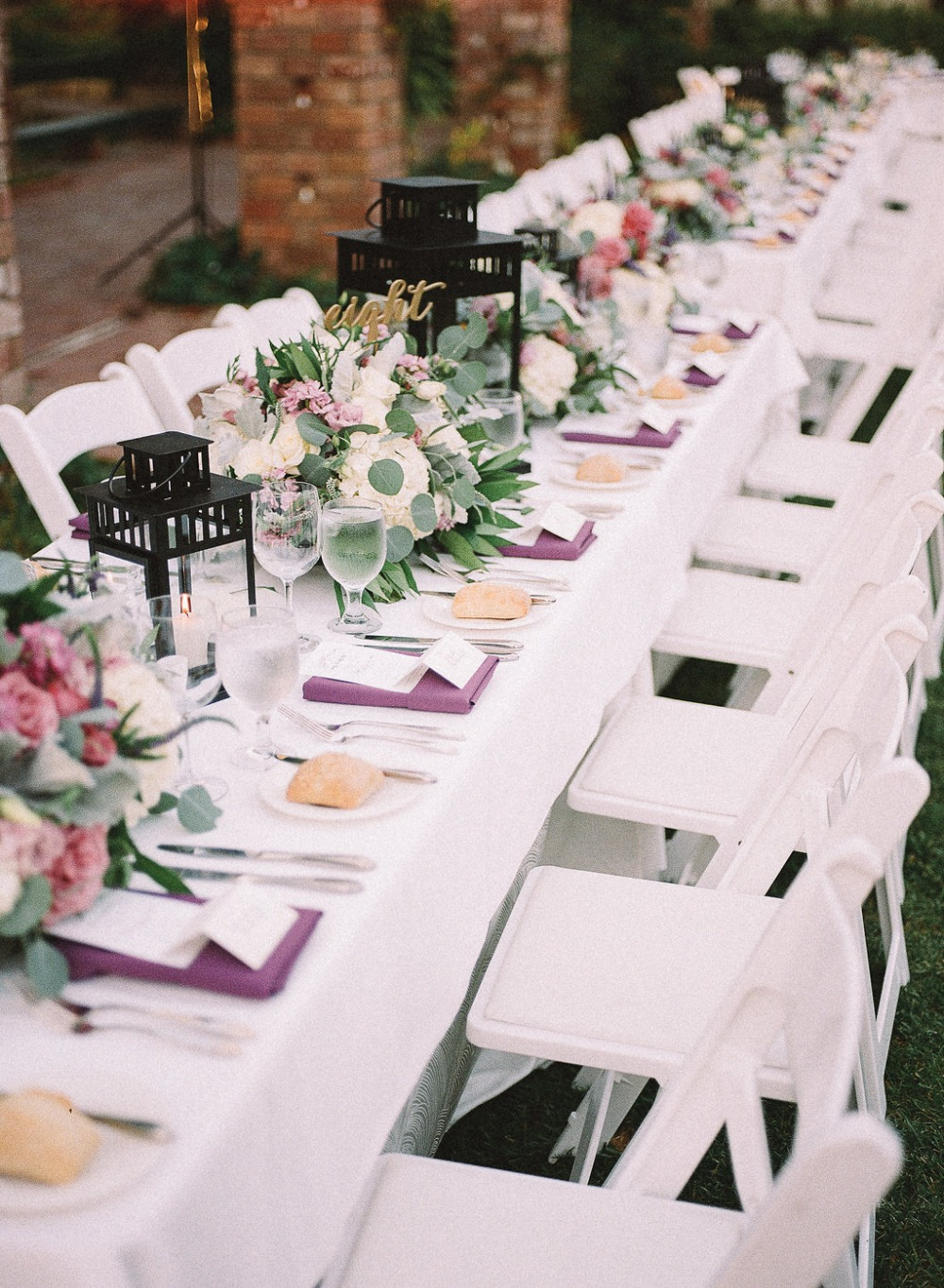 White and purple reception