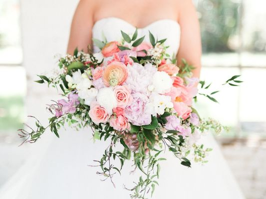 Dusty Blue Pink and Gold Classic Wedding