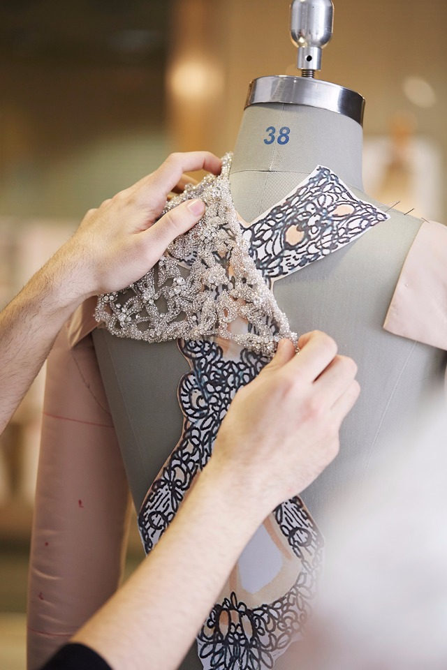 The making of a Pronovias Wedding Gown