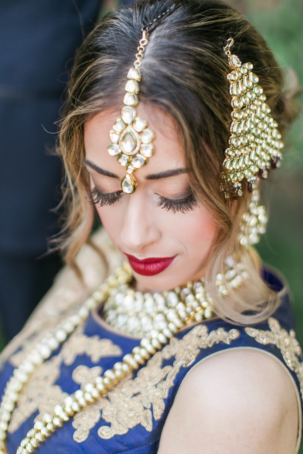 Ornate bridal jewelry