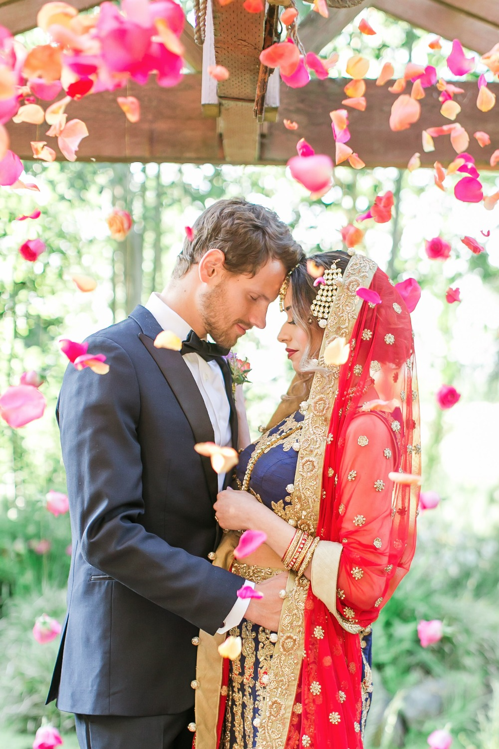 Gorgeous ceremony flower toss