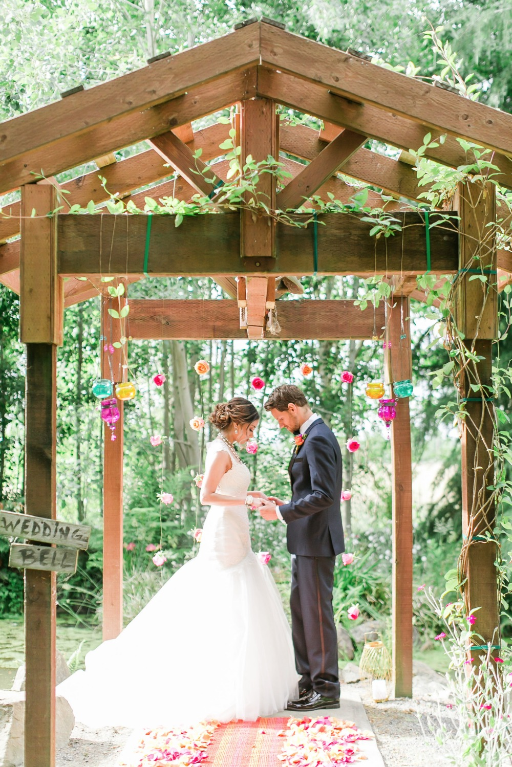 Beautiful outdoor ceremony arbor