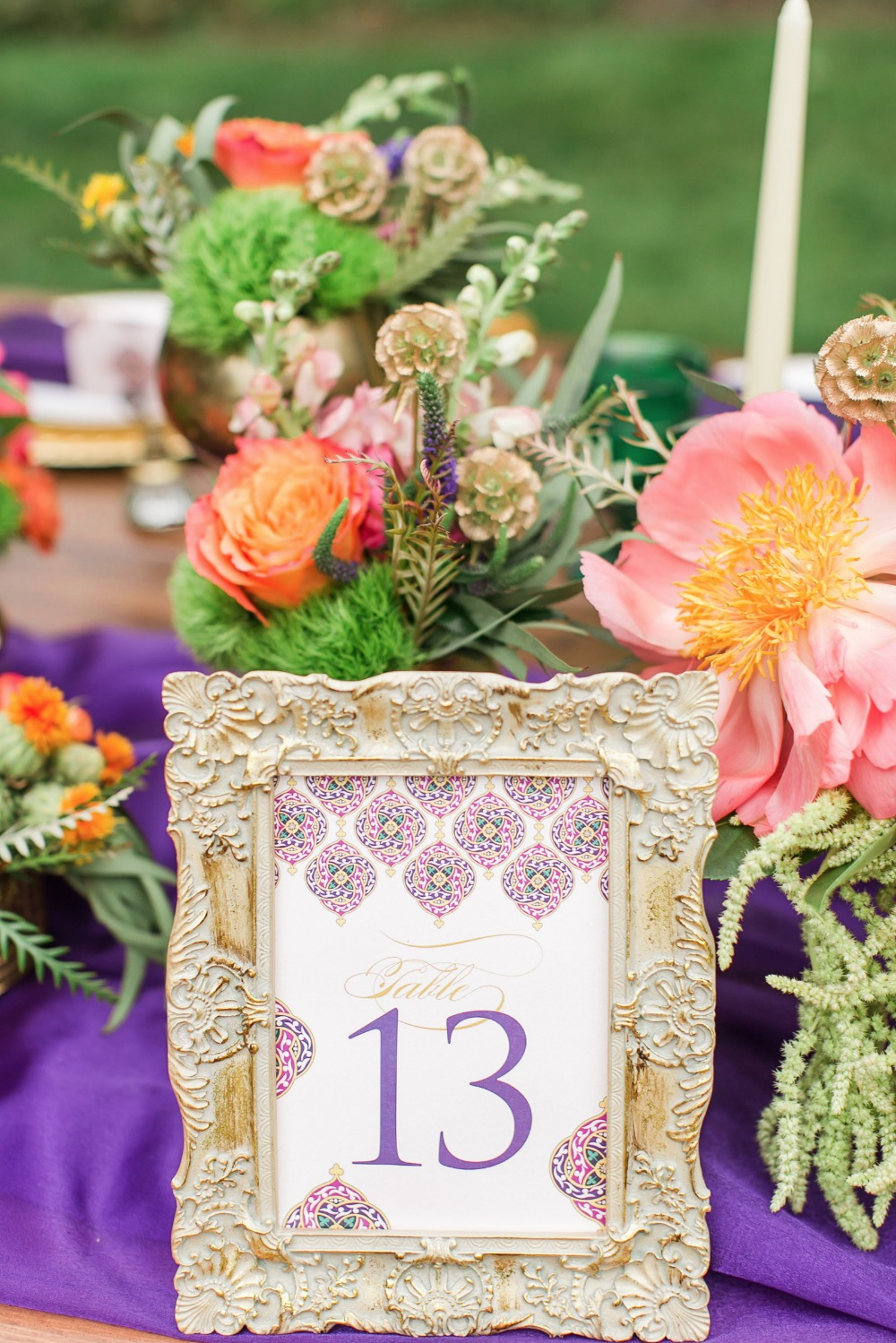 Framed table number idea