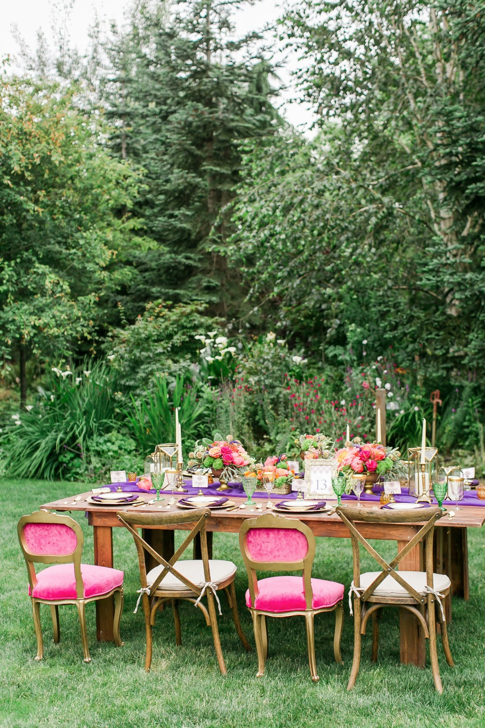 Organic outdoor reception table