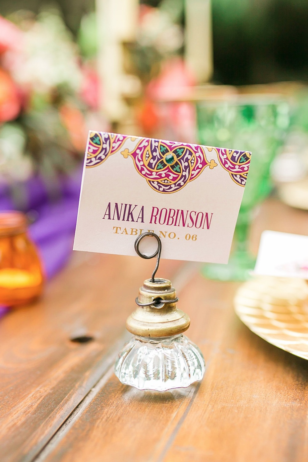 Cute place card and door knob holder