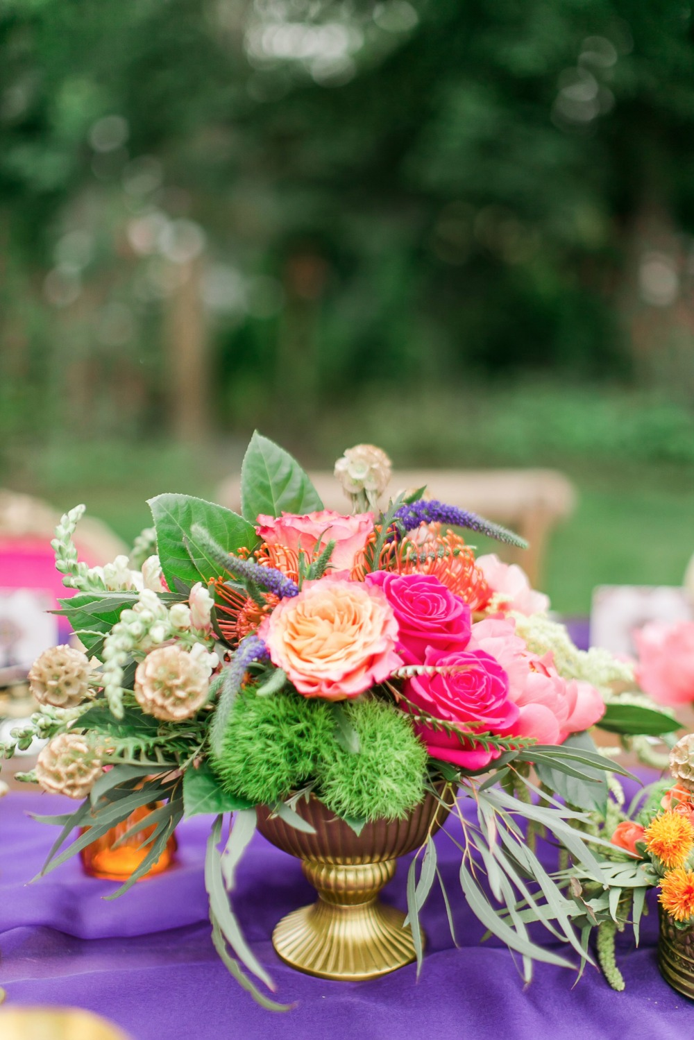 Bright and colorful centerpiece