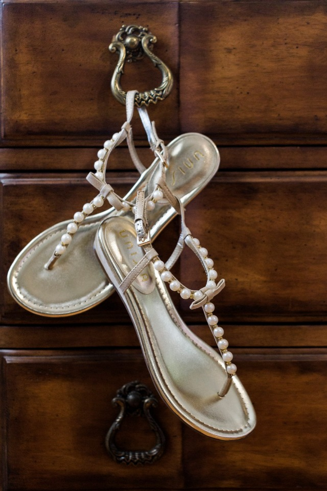 wedding sandals are perfect for parting