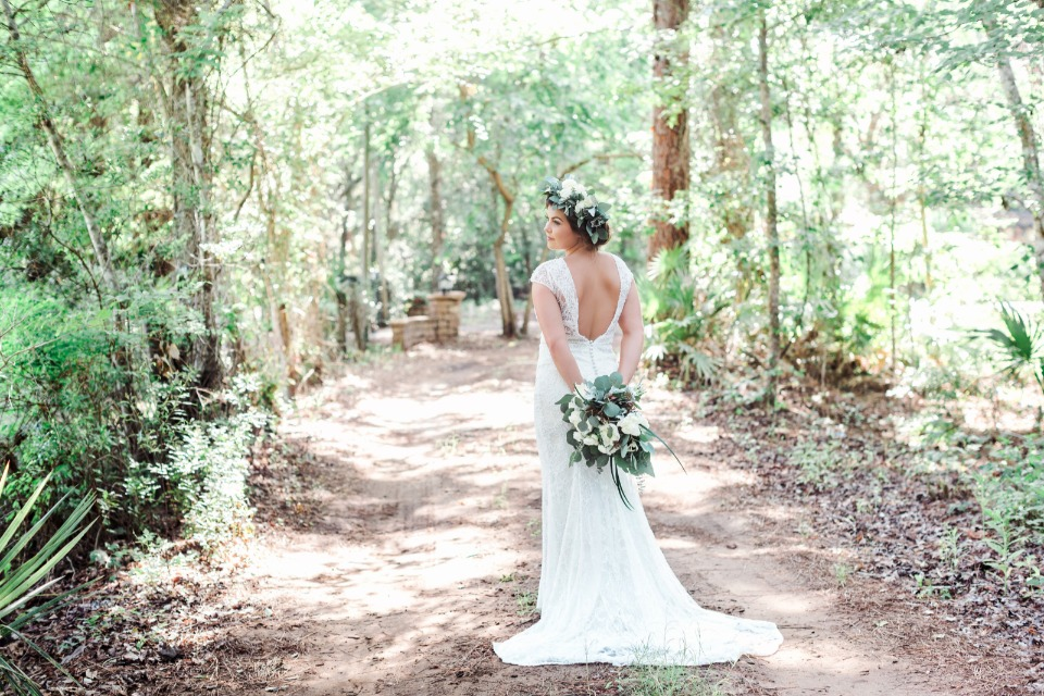 forest wedding bridal style