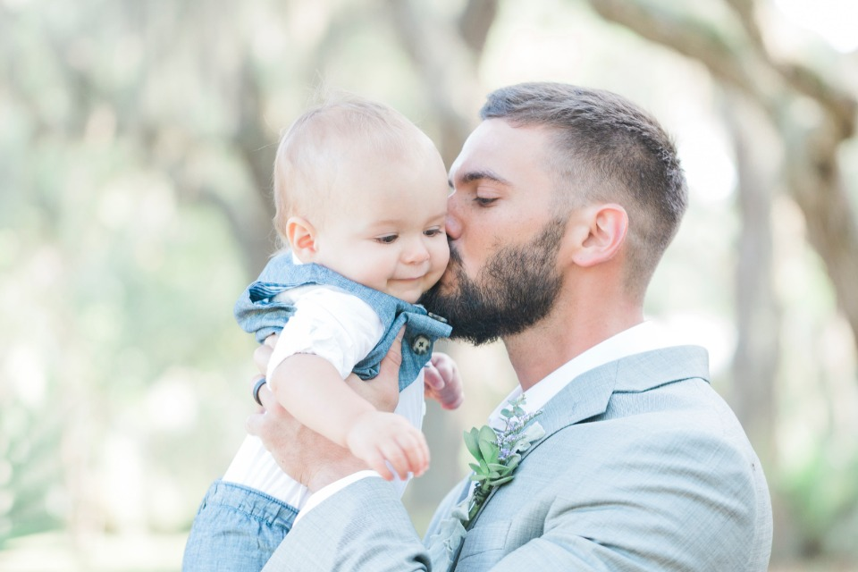the groom and his baby boy