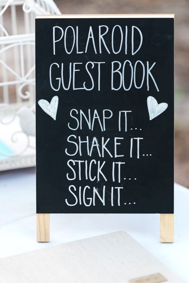 ploaroid guest book sign