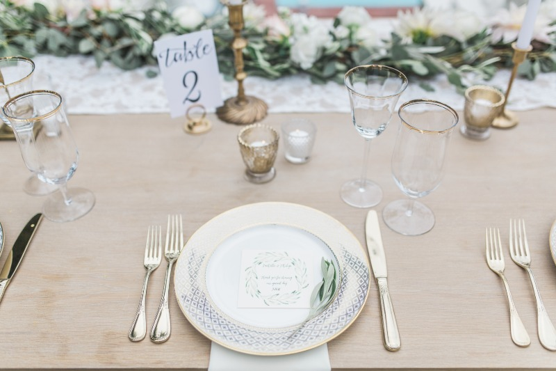 The olives, sages and golds were at every visual turn to tie this Santa Barbara meets Mediterranean Riviera reception setting together