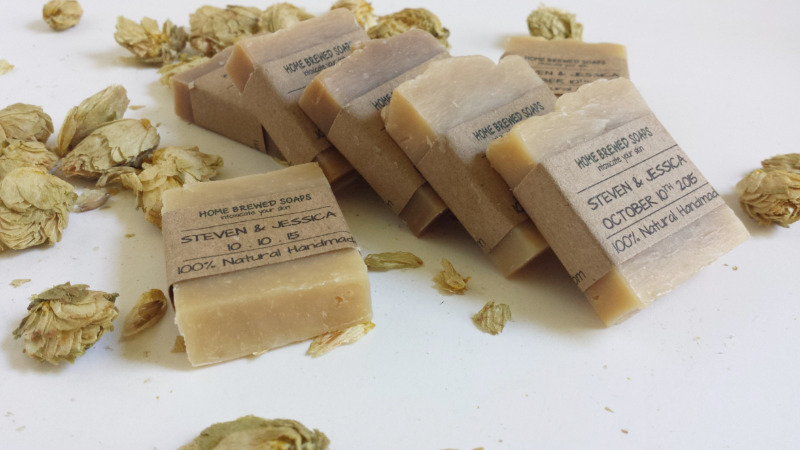 Our handmade beer soap wedding favors are the perfect way to thank your guests and make them feel appreciated. Our wedding soaps are